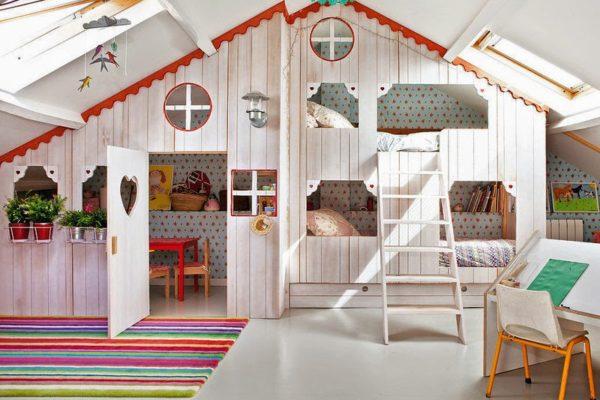 idée chambre enfants toit