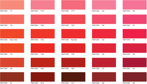 extrait pantone rouge