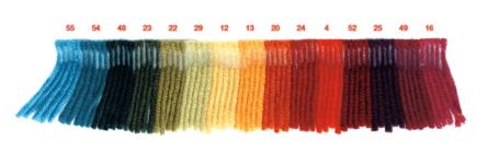 nuancier rouge lainage