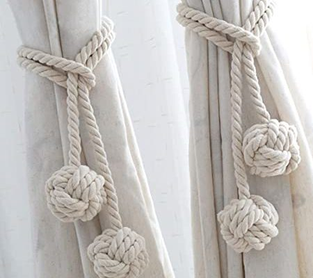 Embrasse rideaux boule coton