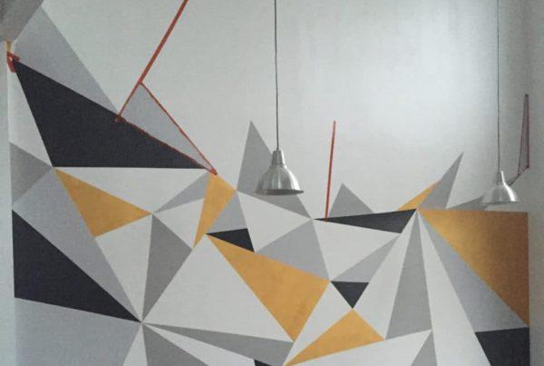 Fresque murale salon coin TV (en cours)