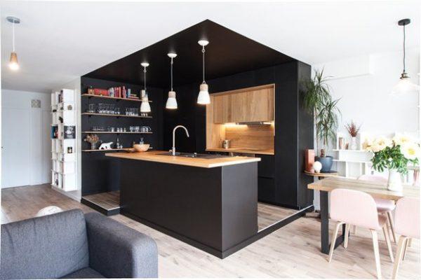 Créer un coin cuisine dans un grand espace sans cloisonner
