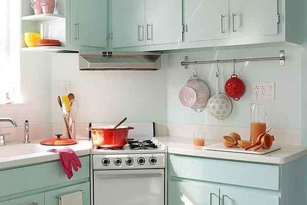 Amener la couleur dans une cuisine étroite