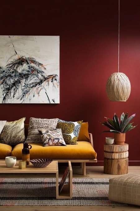 Quelle couleur choisir en déco - Un canapé coloré