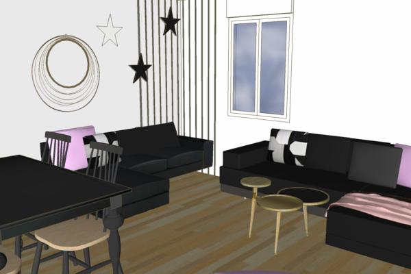 Créer un salon, salle à manger baroque éclectique