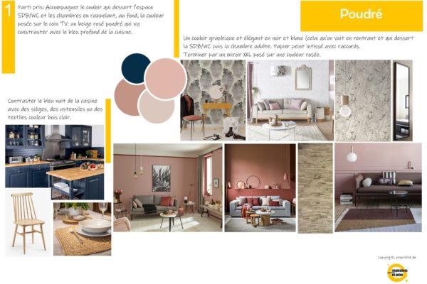 Maison en rénovation, décoration pour salon-salle à manger