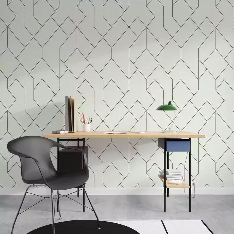 papier peint 4 murs - Neo blanc